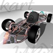ufak yarış arabaları yarışı 3d model