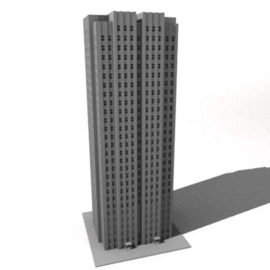 casa de la ciudad royalty-free modelo 3d - Preview no. 1