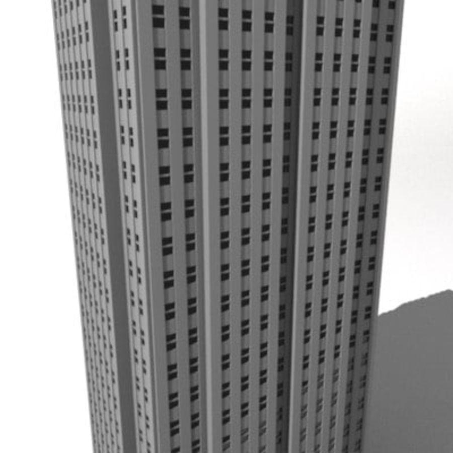 casa de la ciudad royalty-free modelo 3d - Preview no. 2