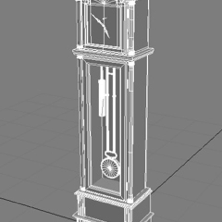 Grandfather Clock royalty-free 3d model - Preview no. 2