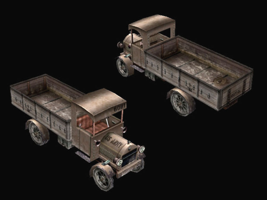 army_truck.zip royalty-free 3d model - Preview no. 2