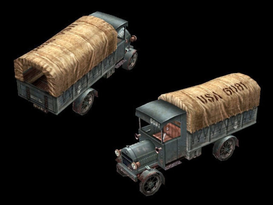 army_truck.zip royalty-free 3d model - Preview no. 4
