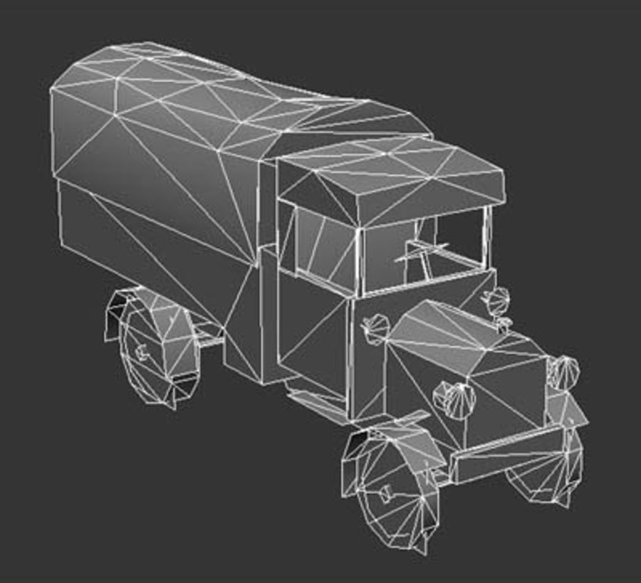 army_truck.zip royalty-free 3d model - Preview no. 5