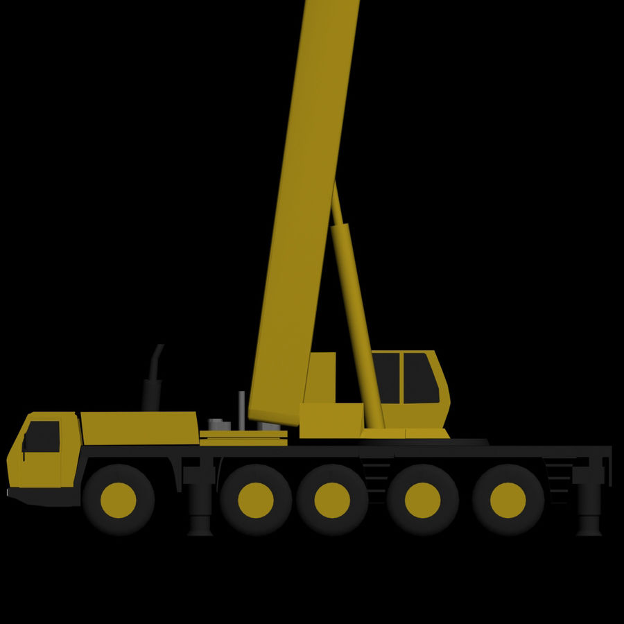 LOW POLY GROVE GMK 5240 BOOM CRANE.3DS royalty-free 3d model - Preview no. 5