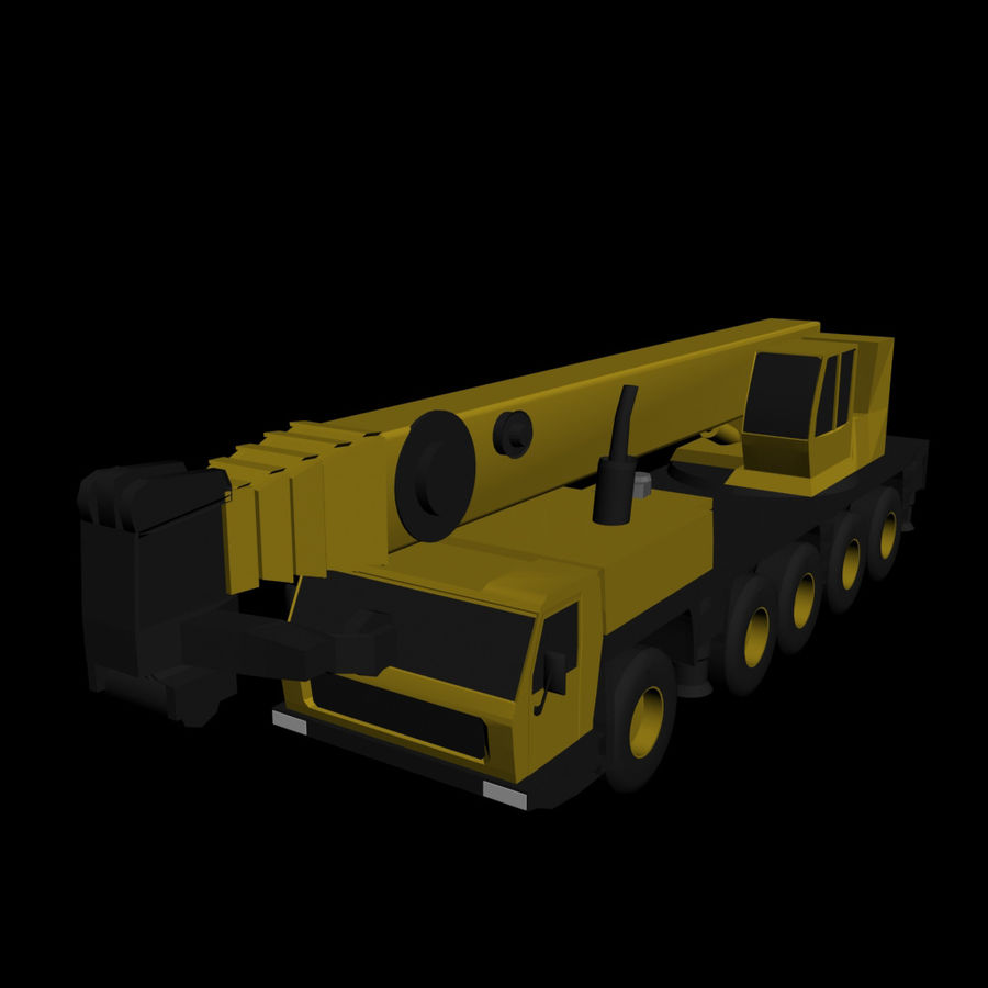 LOW POLY GROVE GMK 5240 BOOM CRANE.3DS royalty-free 3d model - Preview no. 1