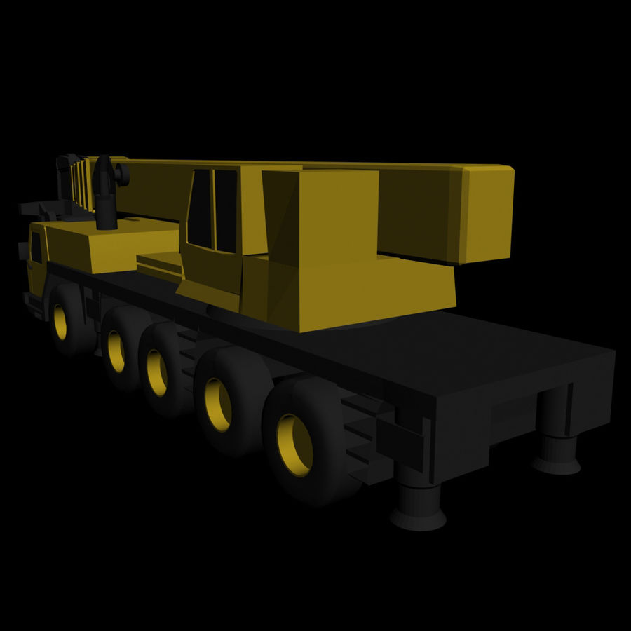 LOW POLY GROVE GMK 5240 BOOM CRANE.3DS royalty-free 3d model - Preview no. 4