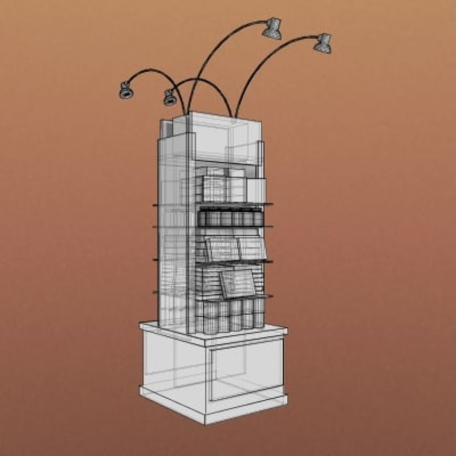 Utility Unit-Candy Display 001 royalty-free 3d model - Preview no. 3