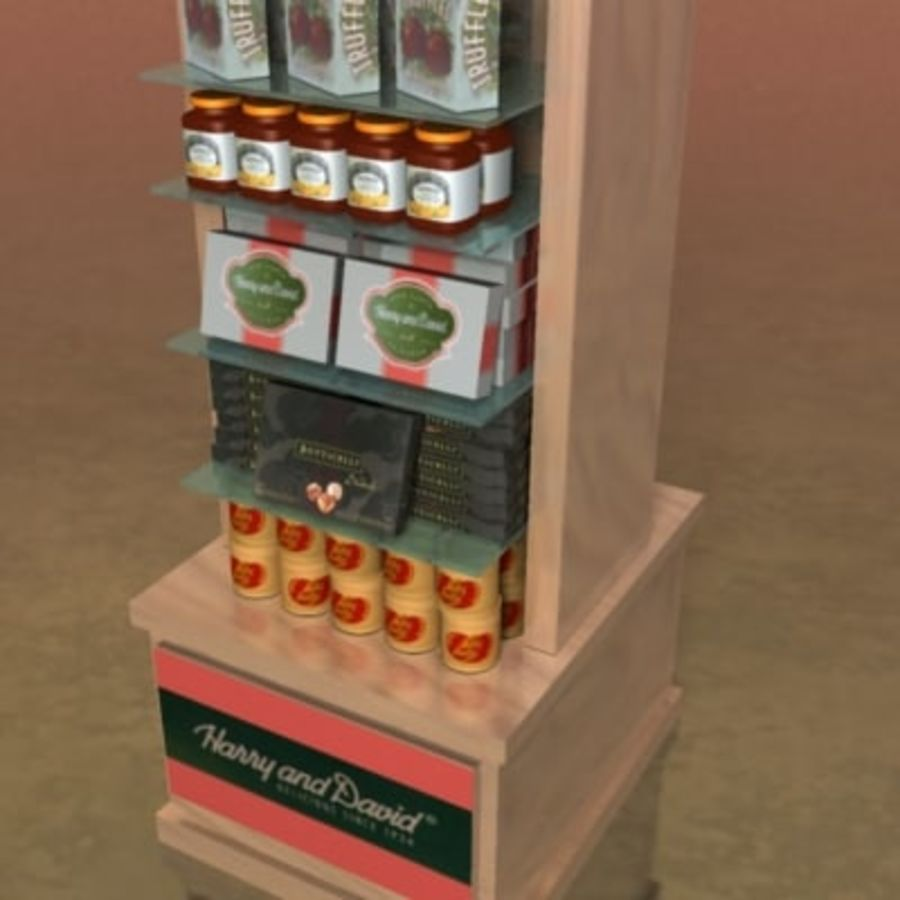 Utility Unit-Candy Display 001 royalty-free 3d model - Preview no. 4