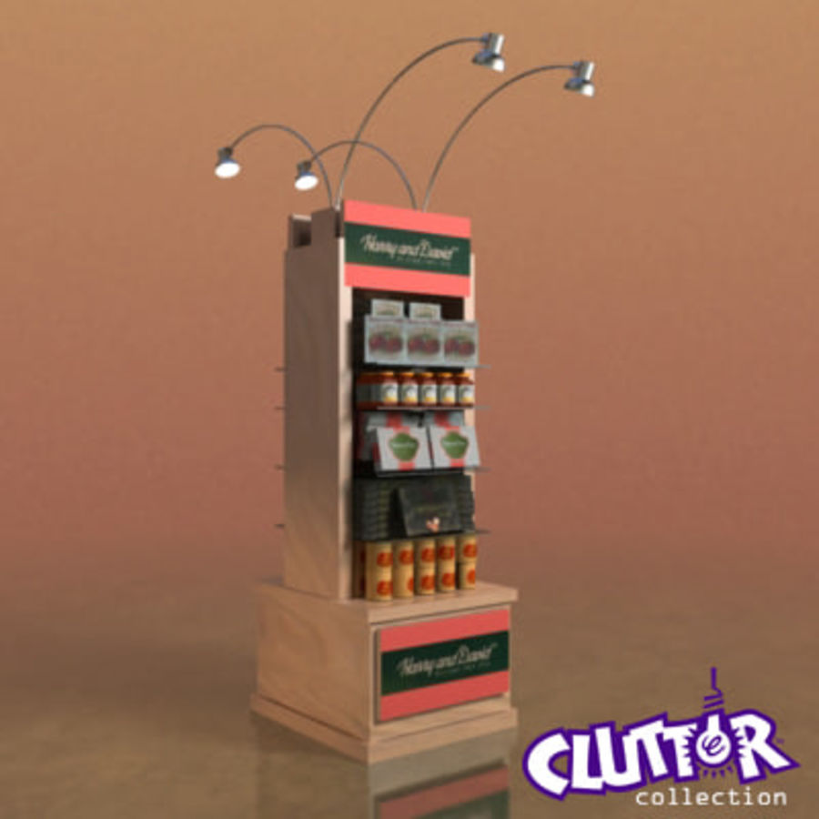 Utility Unit-Candy Display 001 royalty-free 3d model - Preview no. 1