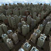 City Tex Daytime 3d model