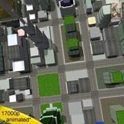 City 16 Blocks Lo poly 3d model