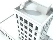 은행 건물 3d model