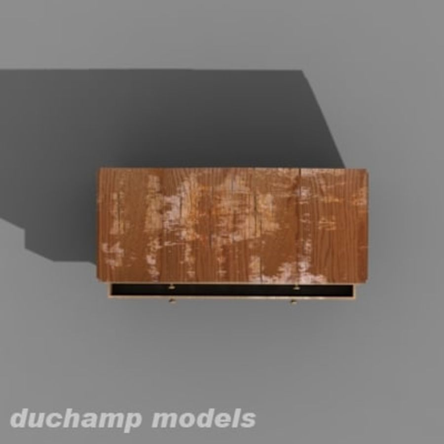 old chest of drawers royalty-free 3d model - Preview no. 4