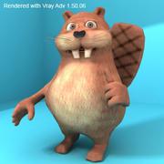 Funny Beaver 3d model