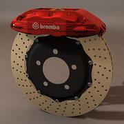 Brembo GT brake system  (HIPoly) 3d model