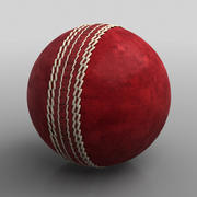 Cricket Ball, Leather 3d model