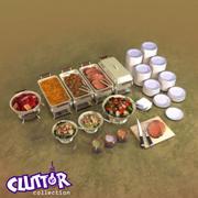 Clutter-Banquet Buffet 001 3d model