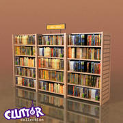 Furniture-Bookcase - DVD 001 3d model