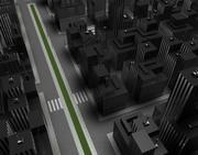 stadsscen 3d model