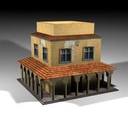 Oriental Style House 3d model