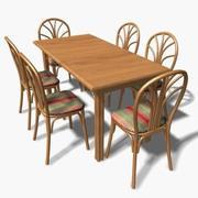 tropische Möbel 3d model