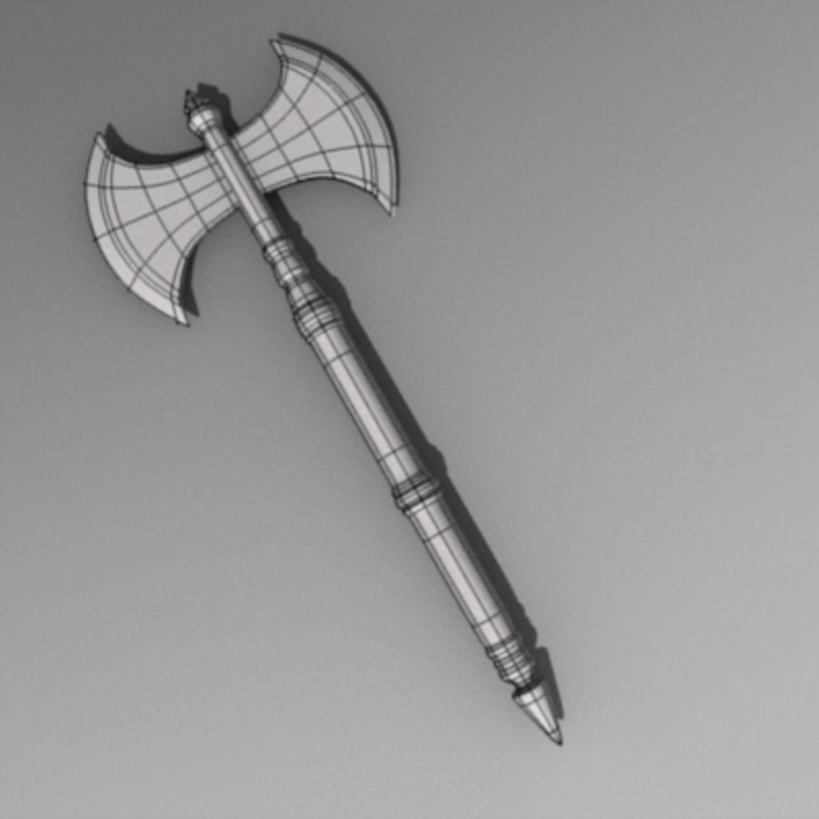 axe2.obj royalty-free 3d model - Preview no. 3