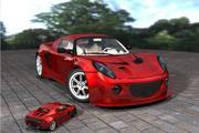 Европейский спортивный автомобиль 3d model