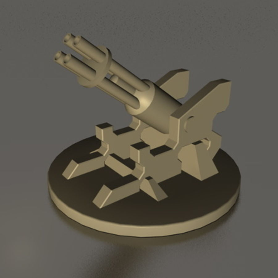 Old Flak WW2 royalty-free 3d model - Preview no. 7