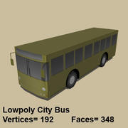 Low Poly City Bus 3d model