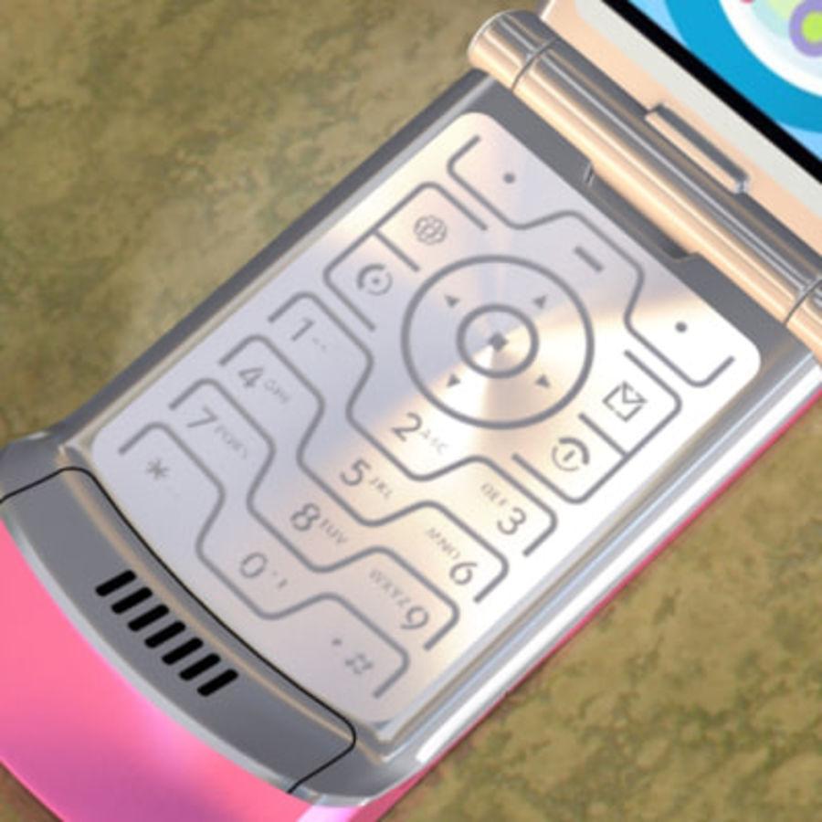 Electronics-Phone-MotoRAZR-V3i royalty-free 3d model - Preview no. 5