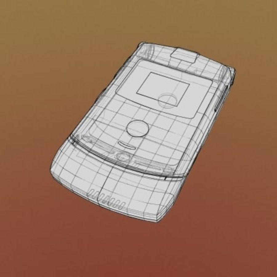 Electronics-Phone-MotoRAZR-V3i royalty-free 3d model - Preview no. 3