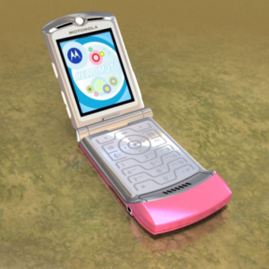 Electronics-Phone-MotoRAZR-V3i royalty-free 3d model - Preview no. 6