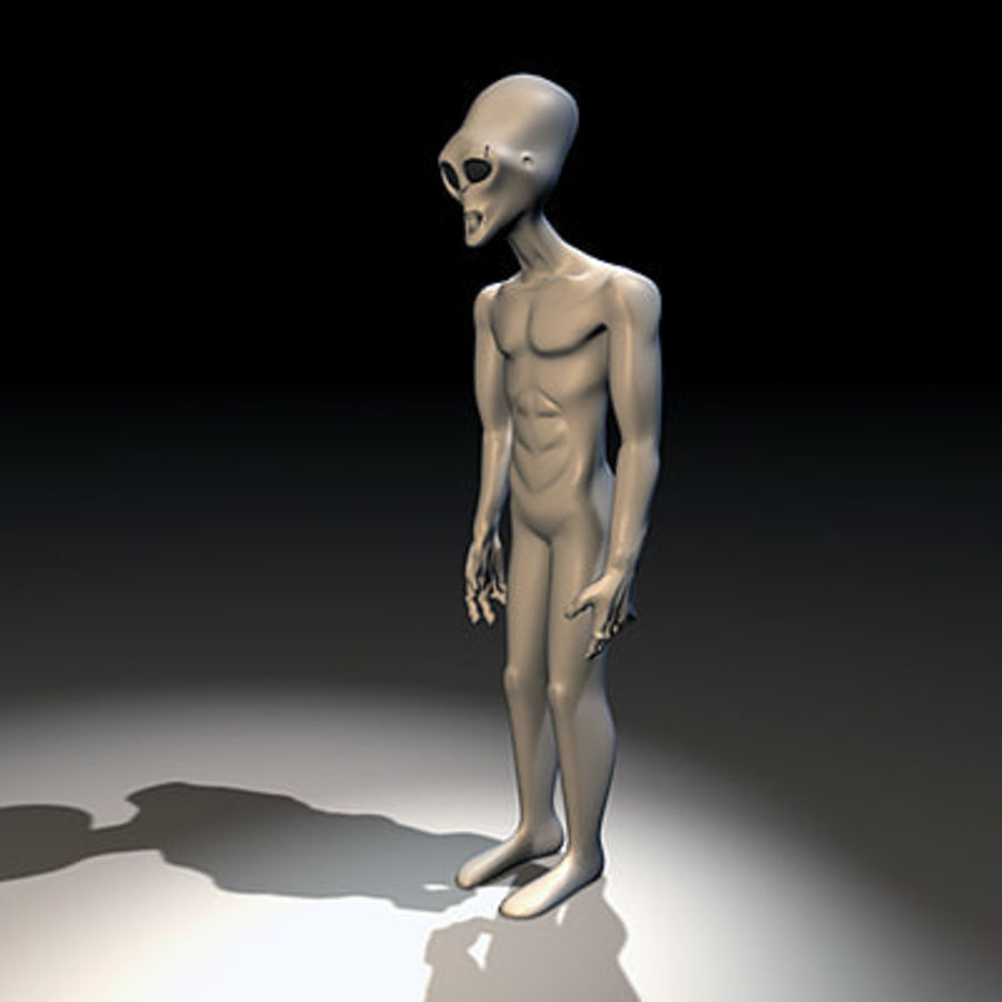 Alien Character royalty-free 3d model - Preview no. 11