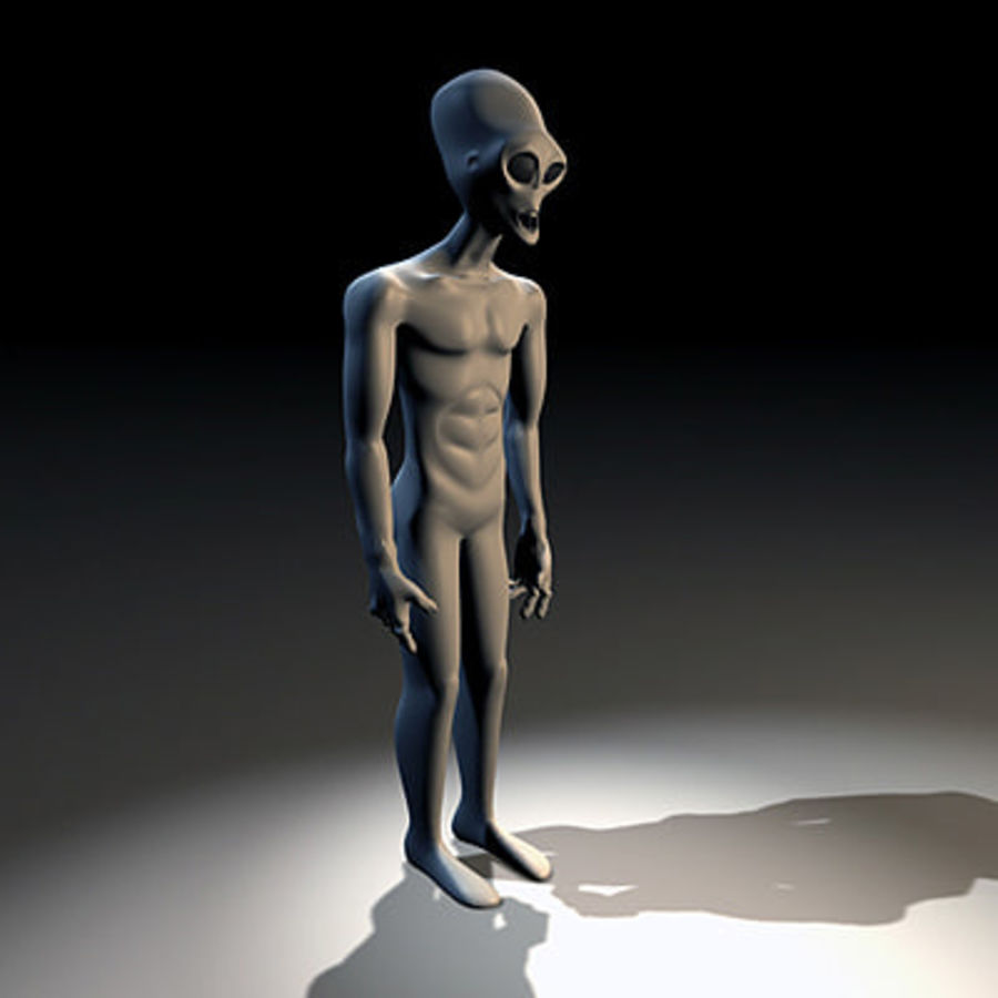 Alien Character royalty-free 3d model - Preview no. 2