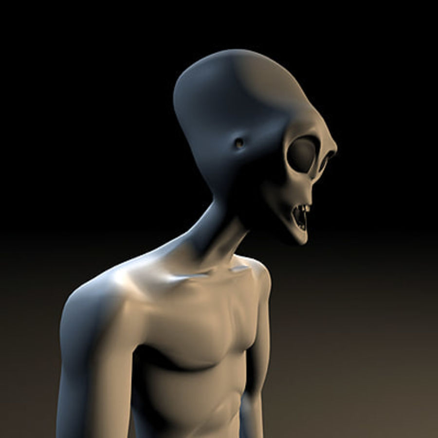 Alien Character royalty-free 3d model - Preview no. 9