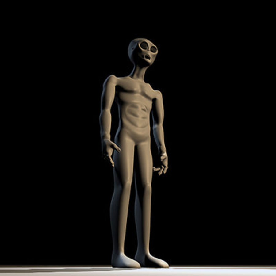 Alien Character royalty-free 3d model - Preview no. 6