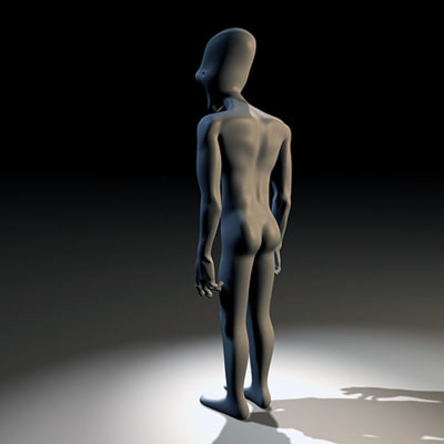 Alien Character royalty-free 3d model - Preview no. 4