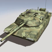M1 Abrams Camouflage Version 3d model
