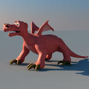 Dragon (Comic Style) 3d model