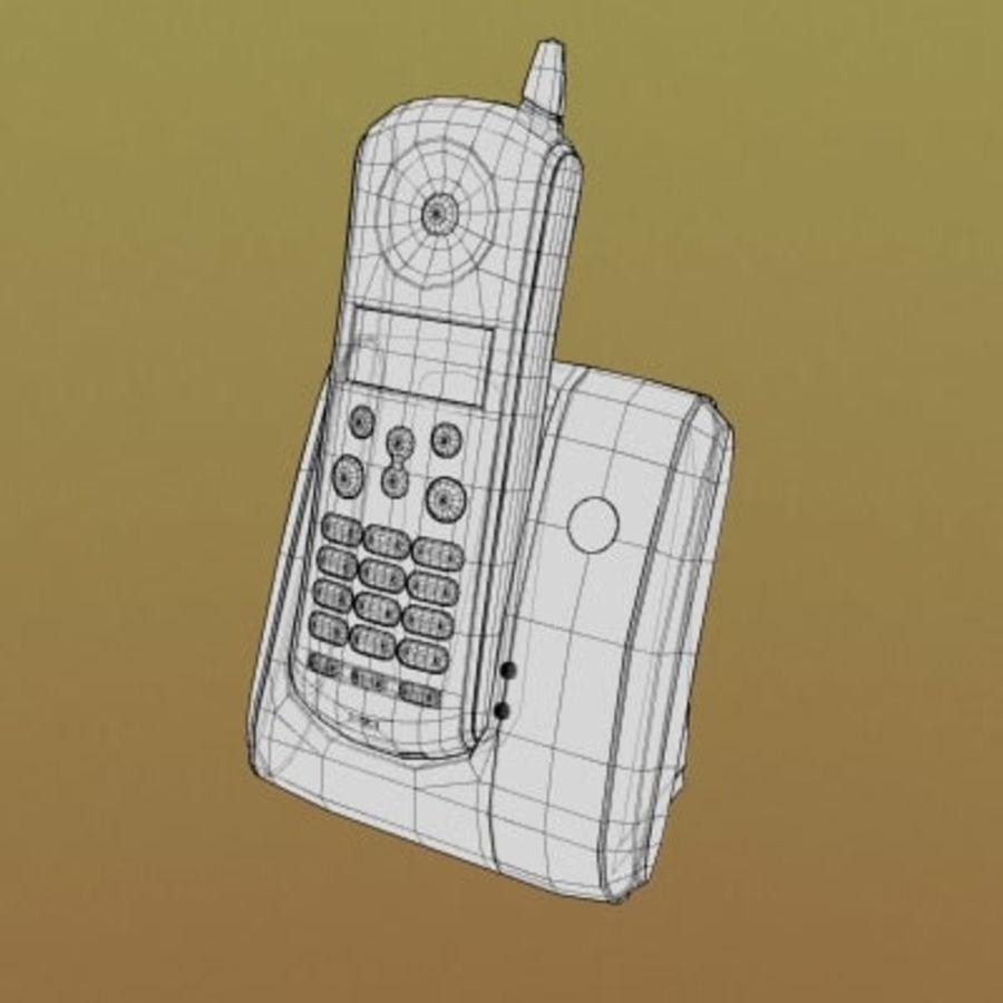 Electronics-Phone Motorola cordless 001 royalty-free 3d model - Preview no. 2
