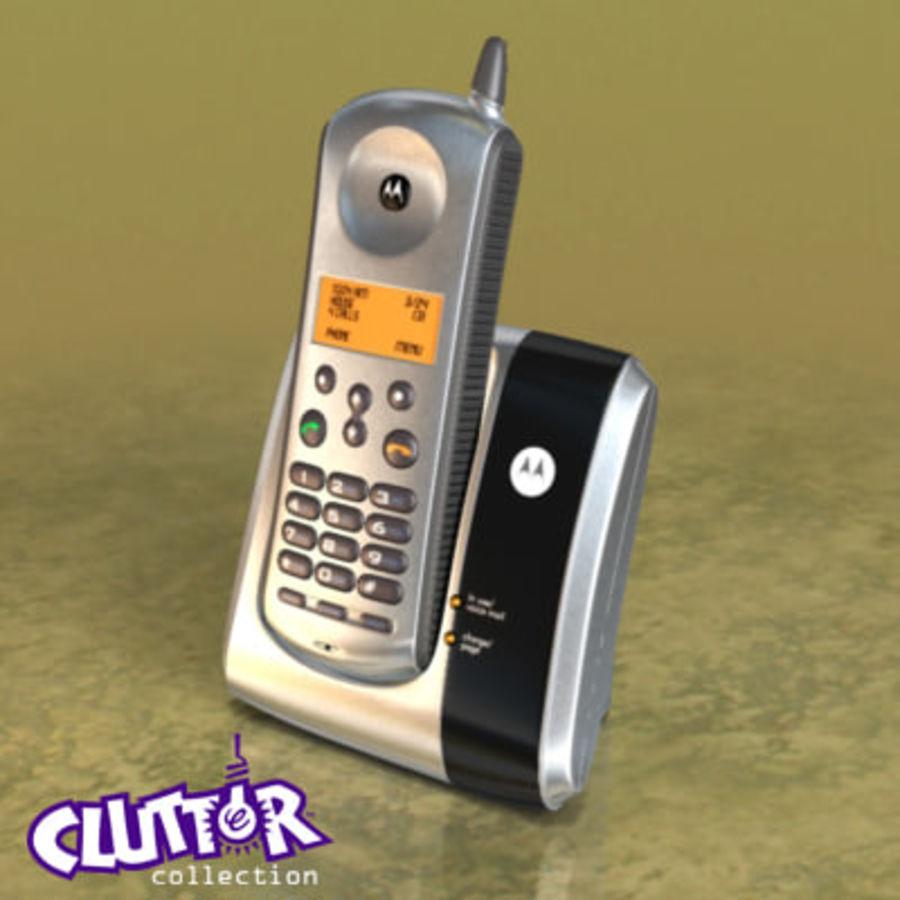 Electronics-Phone Motorola cordless 001 royalty-free 3d model - Preview no. 1