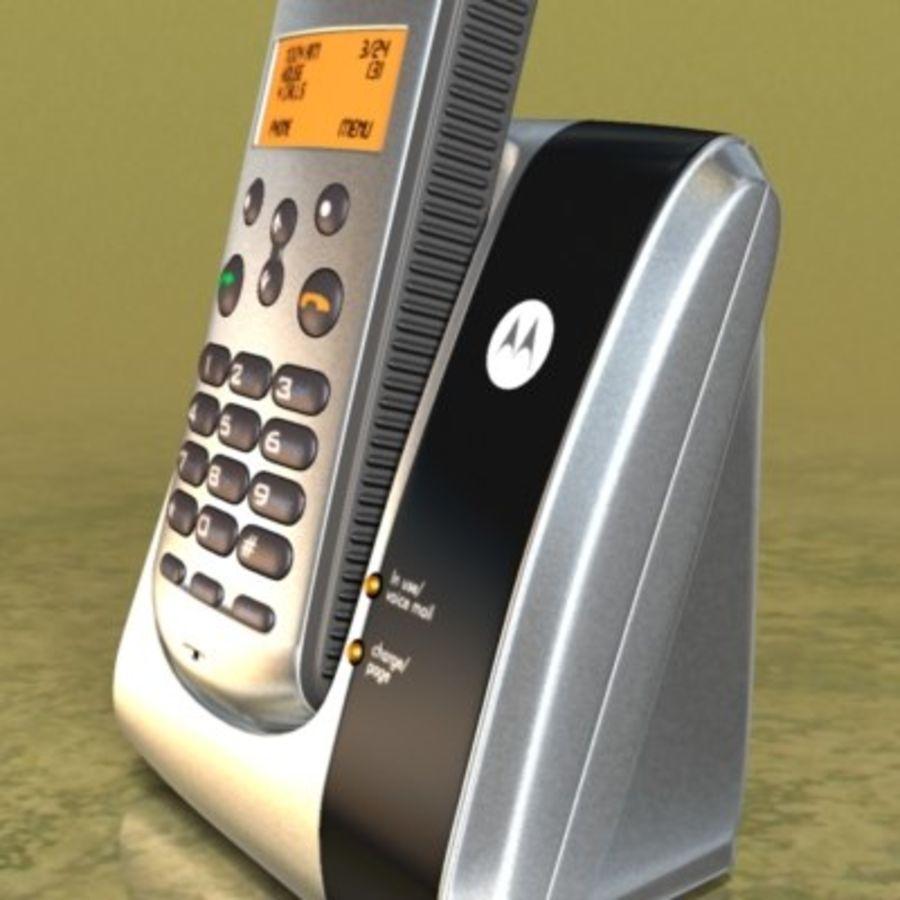 Electronics-Phone Motorola cordless 001 royalty-free 3d model - Preview no. 4