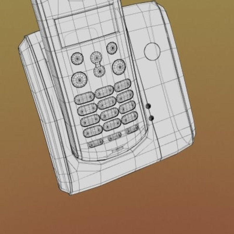 Electronics-Phone Motorola cordless 001 royalty-free 3d model - Preview no. 3