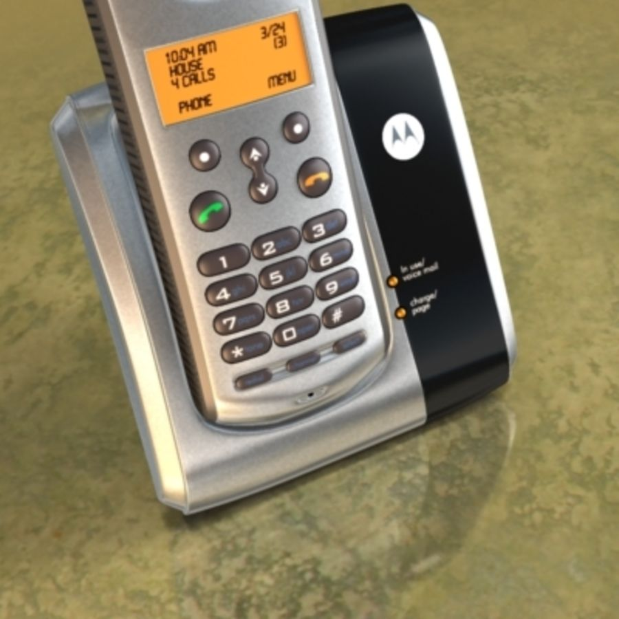 Electronics-Phone Motorola cordless 001 royalty-free 3d model - Preview no. 5