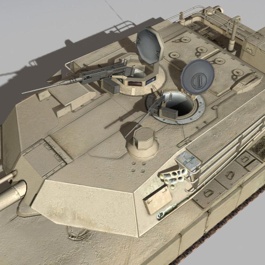 M1 Abrams royalty-free 3d model - Preview no. 7