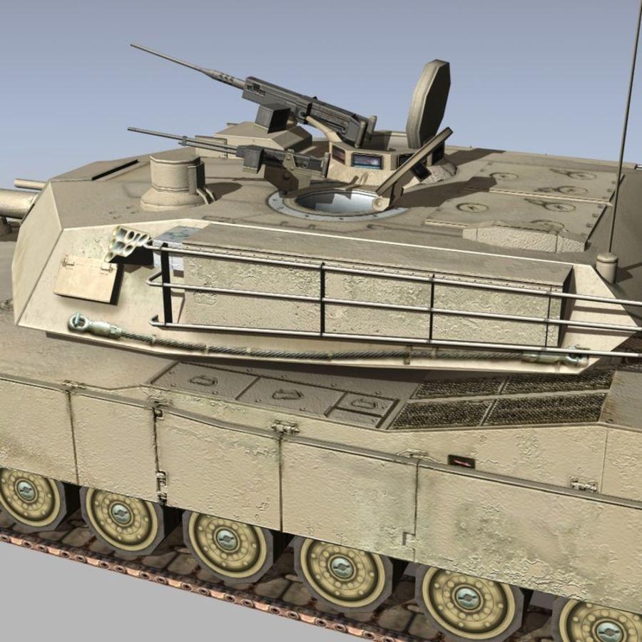 M1 Abrams royalty-free 3d model - Preview no. 8