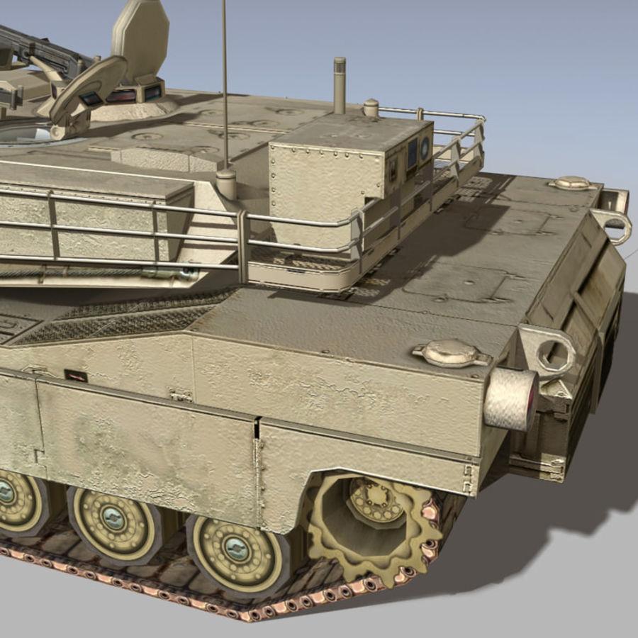 M1 Abrams royalty-free 3d model - Preview no. 9