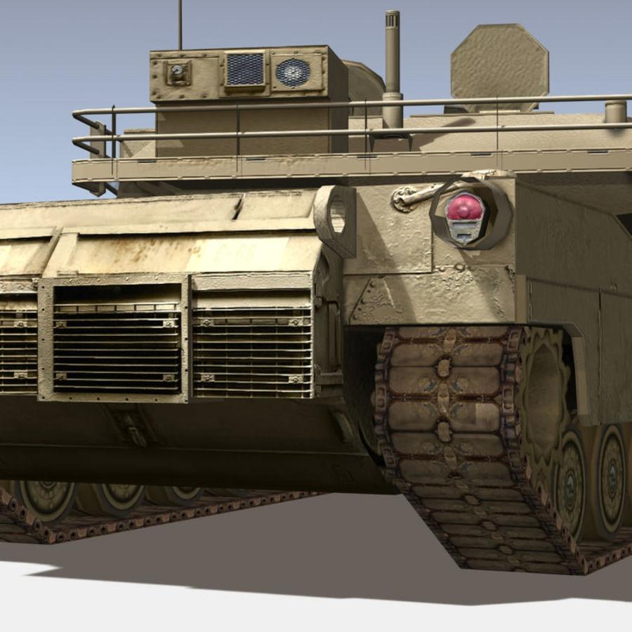 M1 Abrams royalty-free 3d model - Preview no. 12