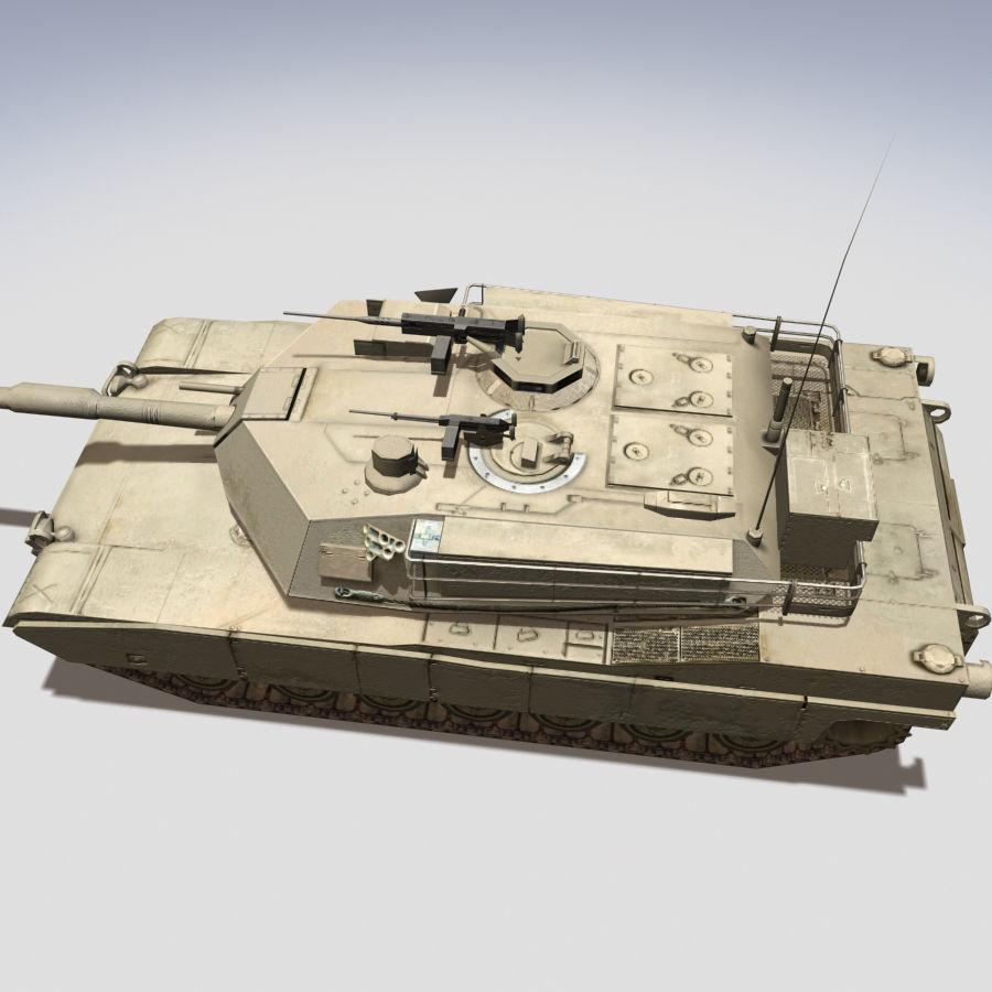 M1 Abrams royalty-free 3d model - Preview no. 2