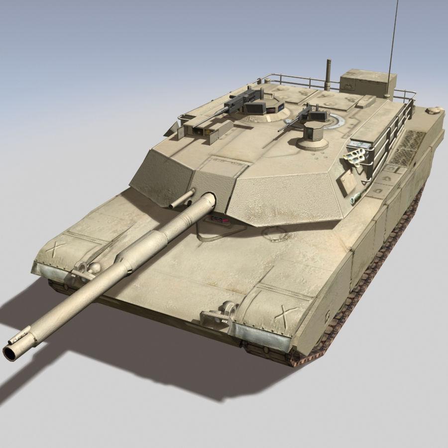 M1 Abrams royalty-free 3d model - Preview no. 1